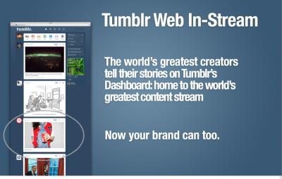 Tumblr의 In-Stream Ads 출처: Business Insider