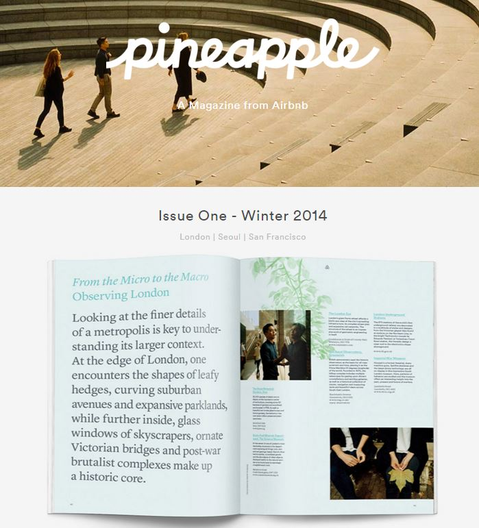 airbnb pineapple magazine