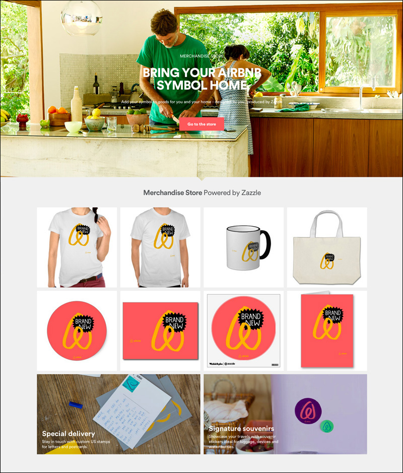 airbnb 로고가 들어간 제품 이미지