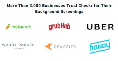 Checkr를 이용하고 있는 온디멘드 업체들 (Source: Checkr 홈페이지)